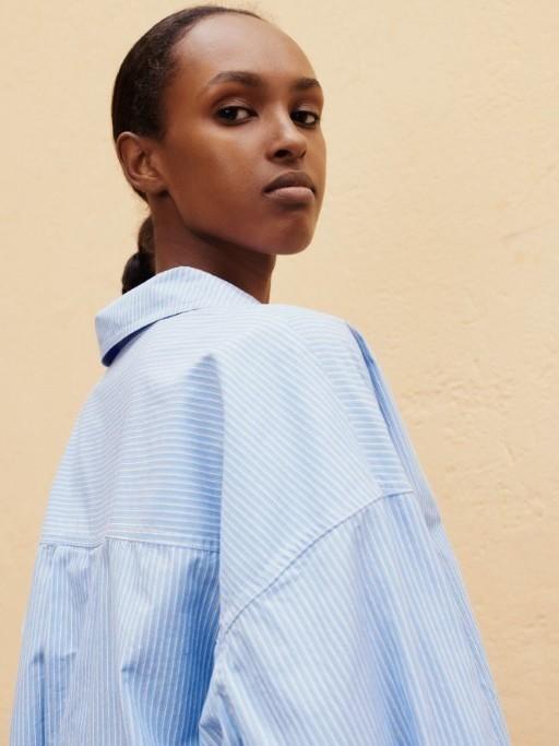 F21100193 00180 - Arielle shirt (Dusty blue st.)