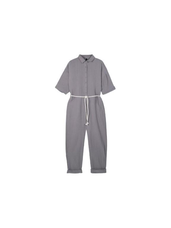 20-087-1201 1045 - Jumpsuit crinkle (Silver grey)