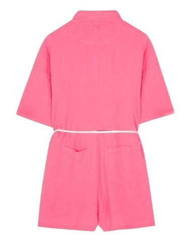 20-088-1201 1050 - Short jumpsuit crinkle (Candy pink)