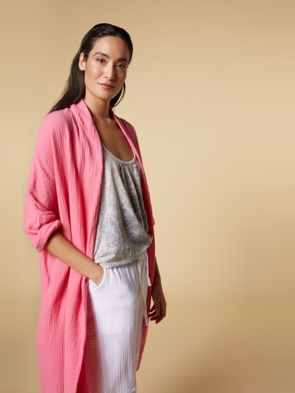 20-857-1201 1050 - Cardigan crinkle (Candy pink)