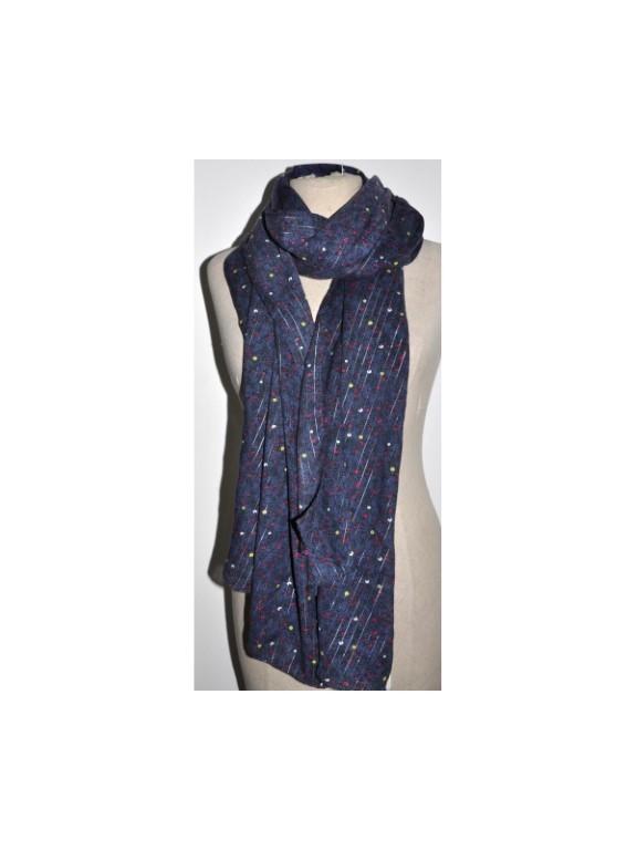 Q390104 46 - Foulard (Bleu indigo)